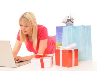 Young Woman E-shopper